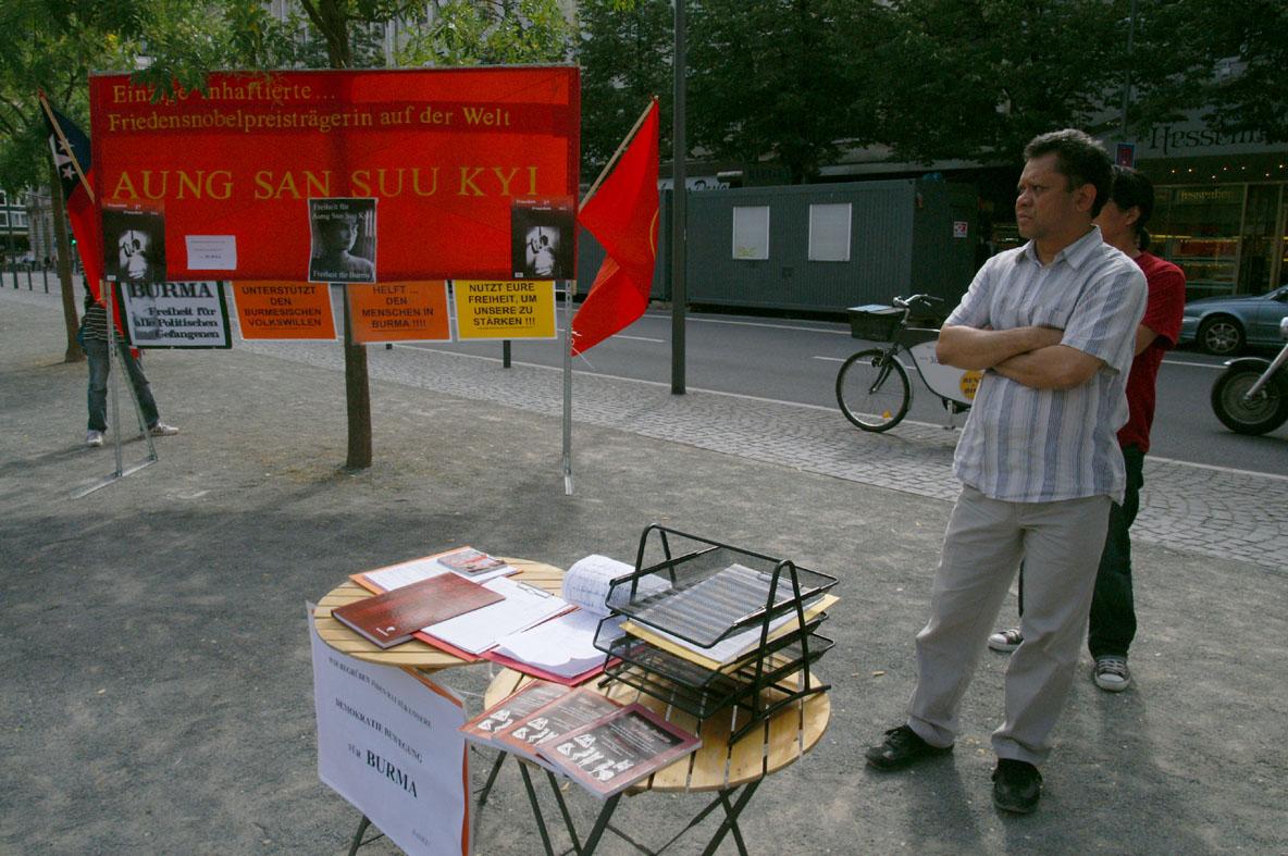 Infostand Frankfurt Juli 2009