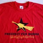 T-Shirt Burma Aktion