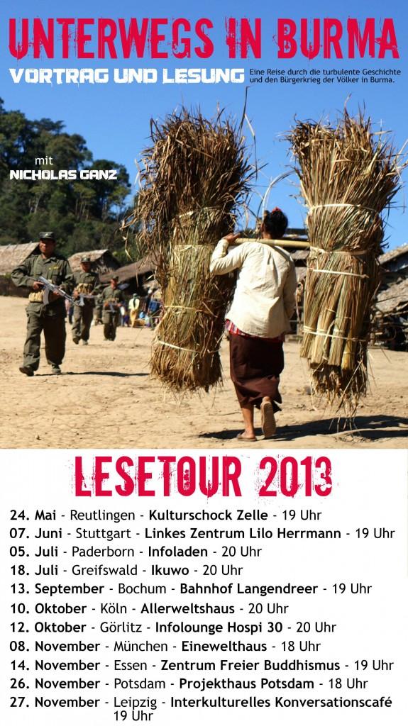Unterwegs in Burma - Lesetour 2013